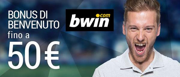 Bonus benvenuto Bwin fino a 50 euro